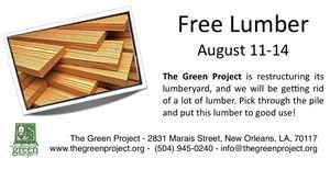 Free Lumber Notice